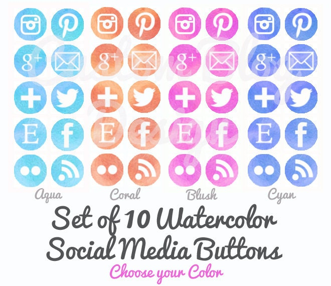 Social Media Icons Pinterest Instagram Images & Pictures - Becuo