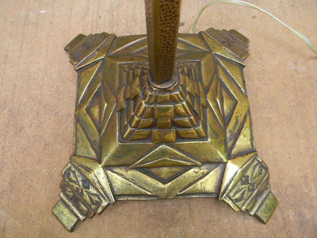 Vintage Antique Art Deco Floor Lamp Brass Cast By