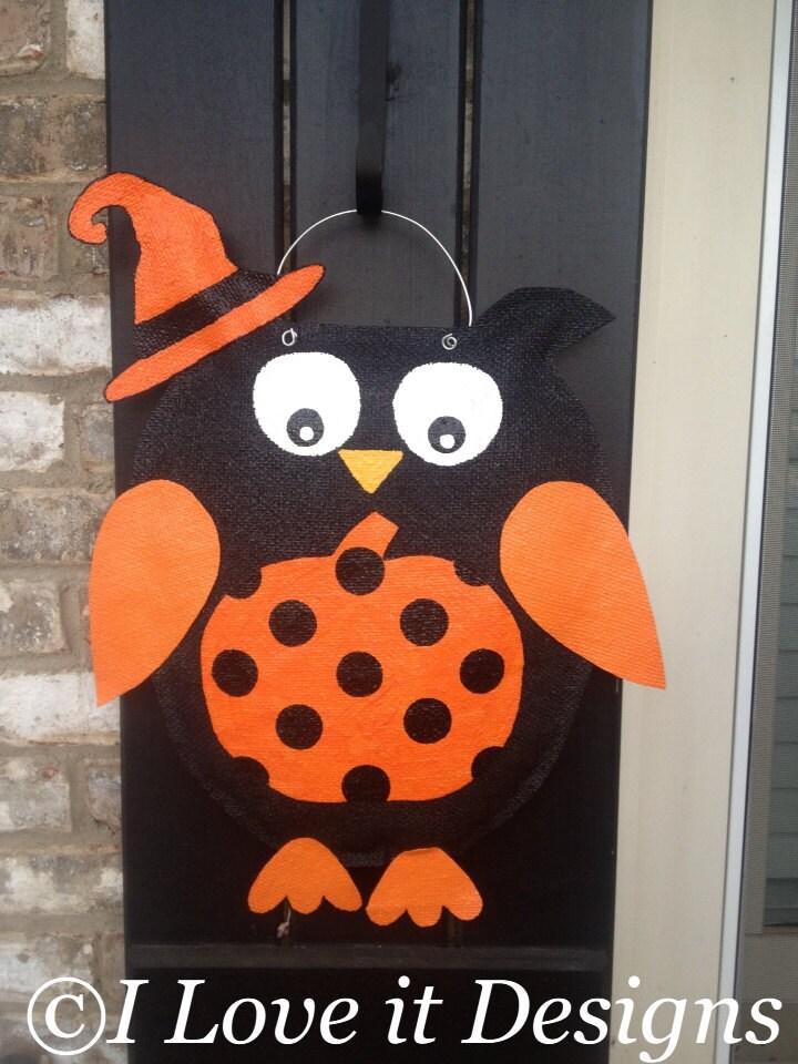 Unavailable Listing on Etsy ~ 102409_Halloween Owl Door Hanger