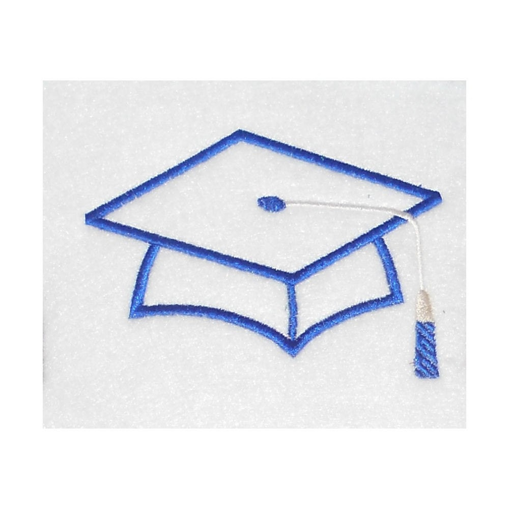 Instant download graduation hat embroidery by jakkisdesigns