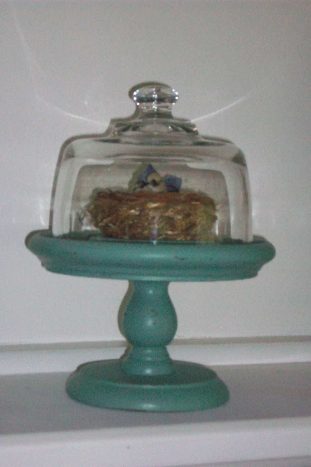 Pedestal Candle Holders : Vintage pedestal candle holder stand with glass by