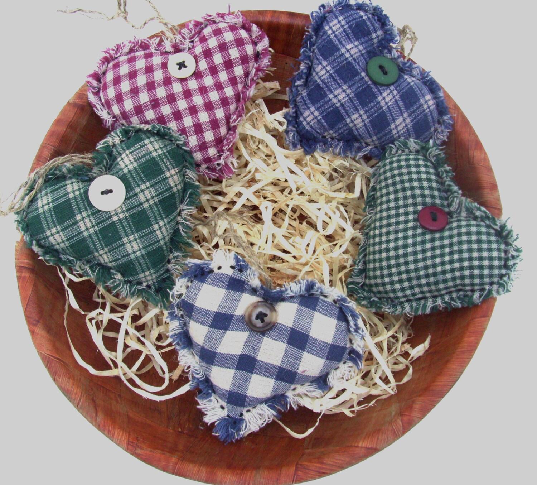 Fabric HEART BOWL FILLERS Handmade by ShopOfCraftsByMyrna ...