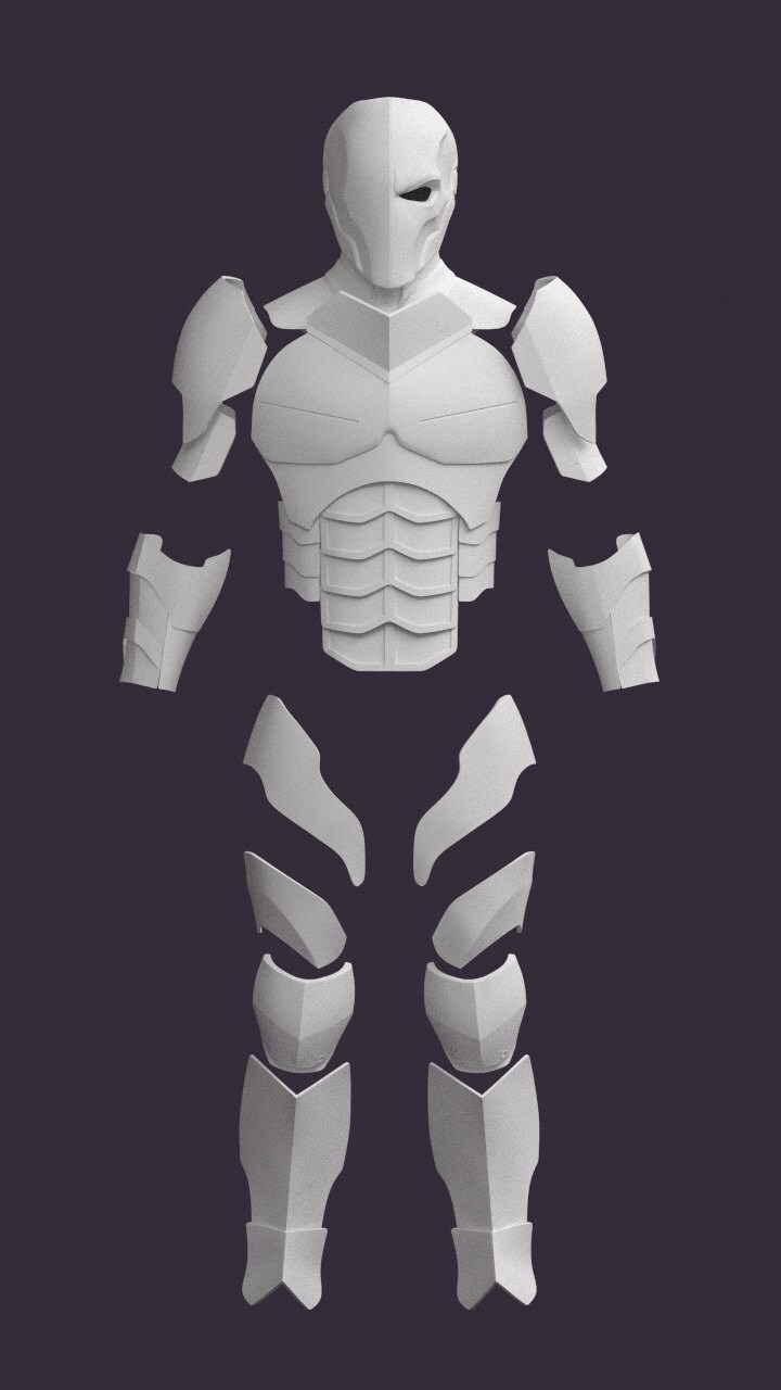 Unavailable listing on etsy for Deathstroke armor template
