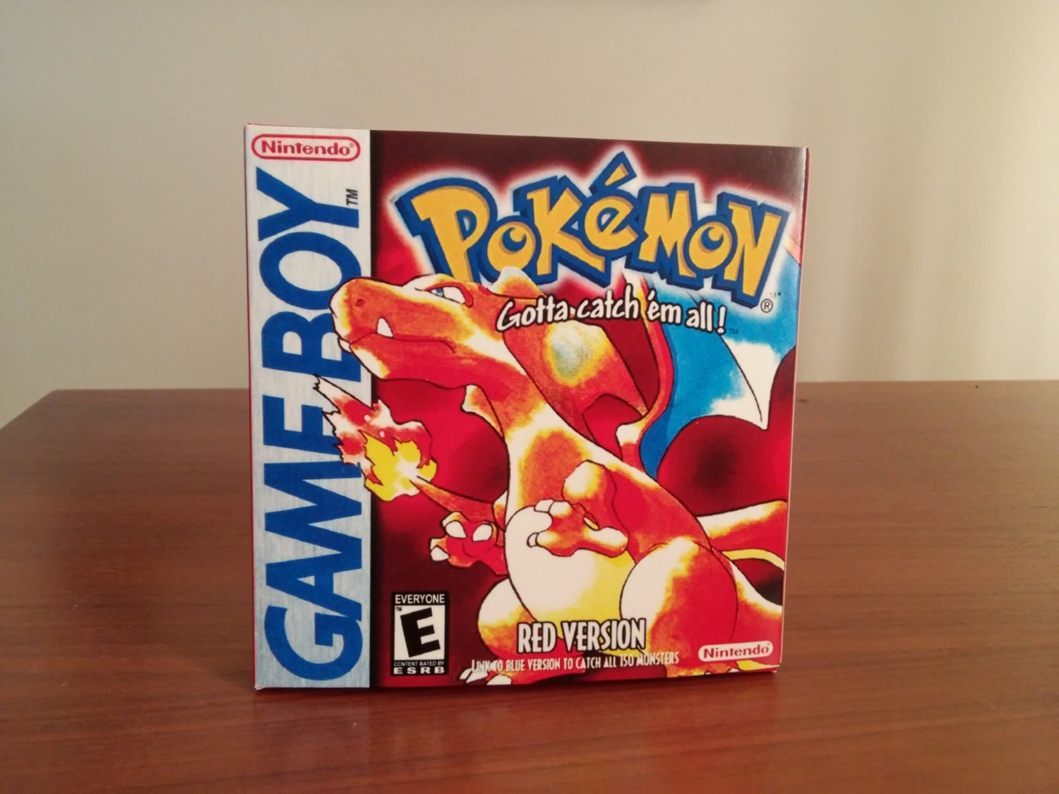 Game Boy Pokemon Red  NTSC or Pal Repro Box with Insert