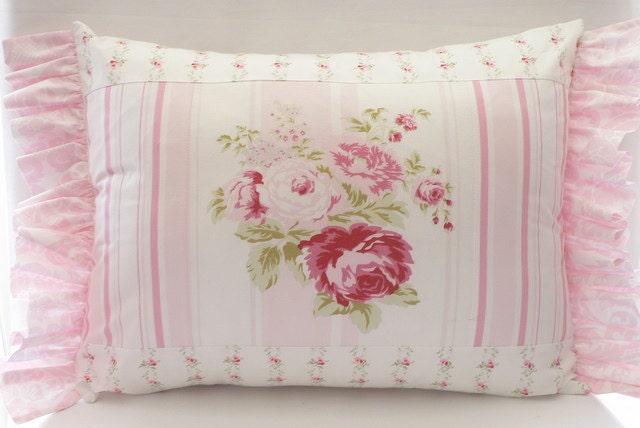 Rachel Ashwell Shabby Chic Pillows : Items similar to Shabby Chic (TM) fabrics by Rachel Ashwell Pillow Cushion on Etsy
