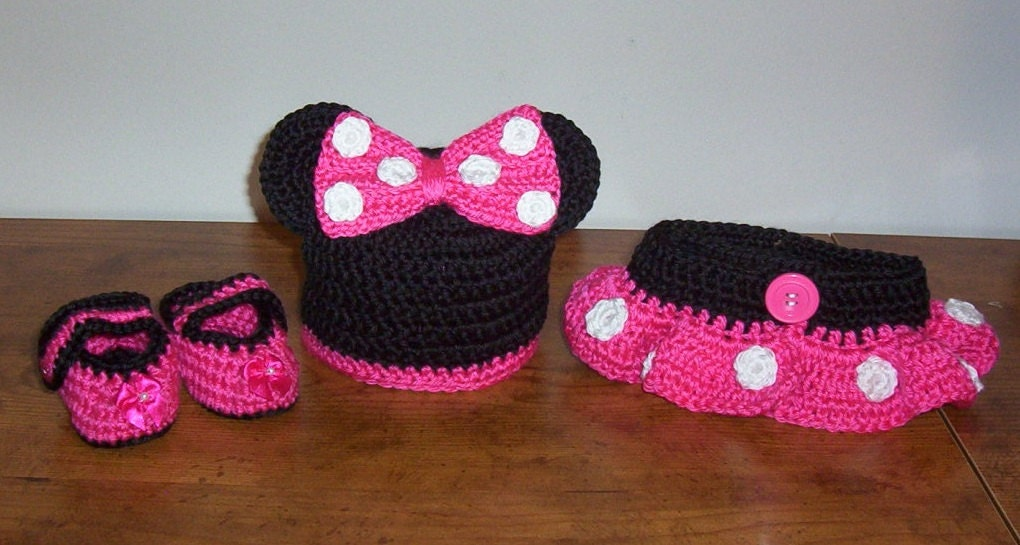 Free Crochet Pattern For Minnie Mouse Hat And Diaper Cover Dancox