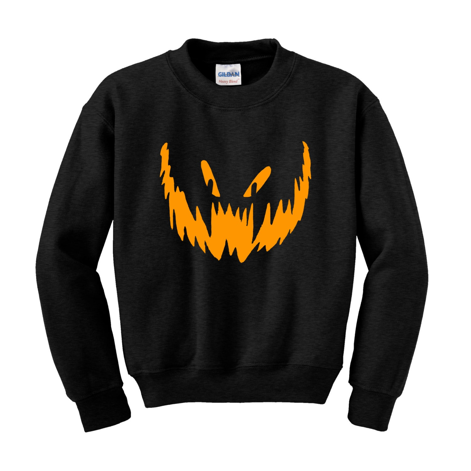 Halloween PUMPKIN FACE JumperSweatshirt Trick Treat Fancy Dress Scary Costume