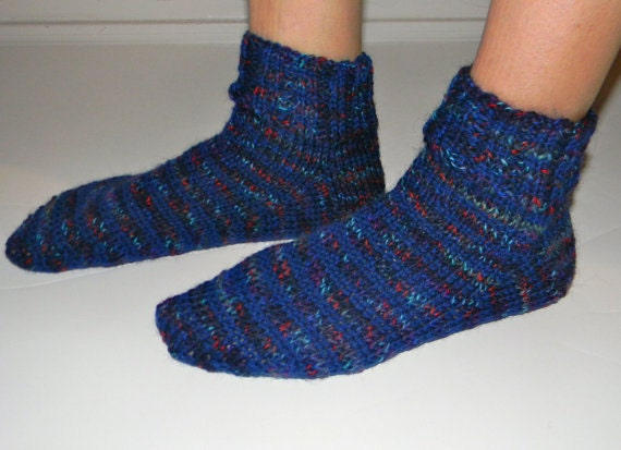 Knitted Slippers Pattern With Two Needles : Items similar to KNITTING PATTERN - socks on 2 needles on Etsy