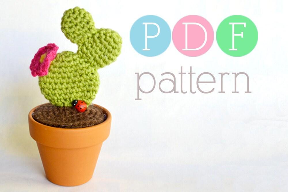 Etsy Amigurumi Cactus : Amigurumi Cactus Crochet Prickly Pear PDF by BubblegumBelles