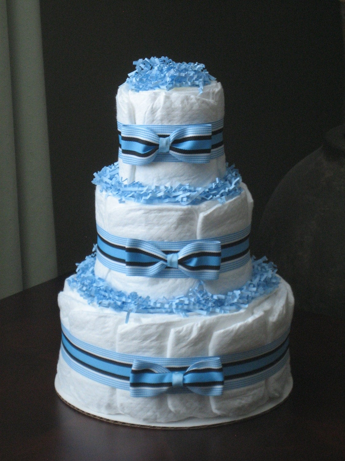 Boy Diaper Cake Decorations : SALE Nautical Baby Boy Diaper Cake for by MrsHeckelDiaperCakes