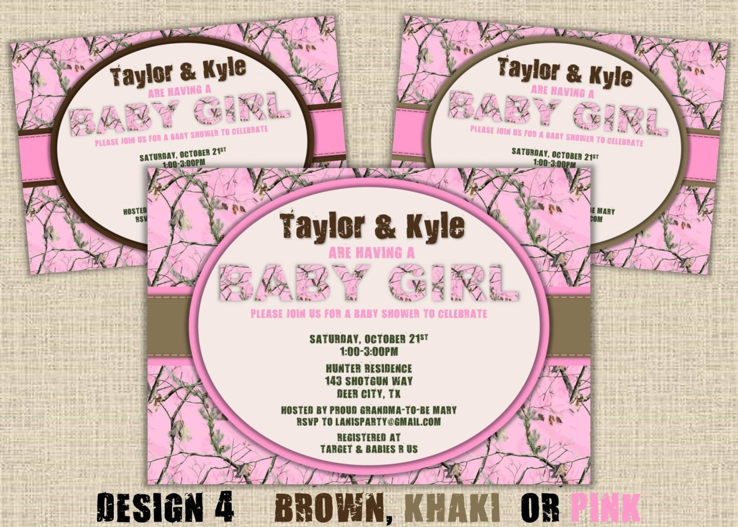 Pink Camo Baby Shower Invitations is one of our best ideas you might choose for invitation design