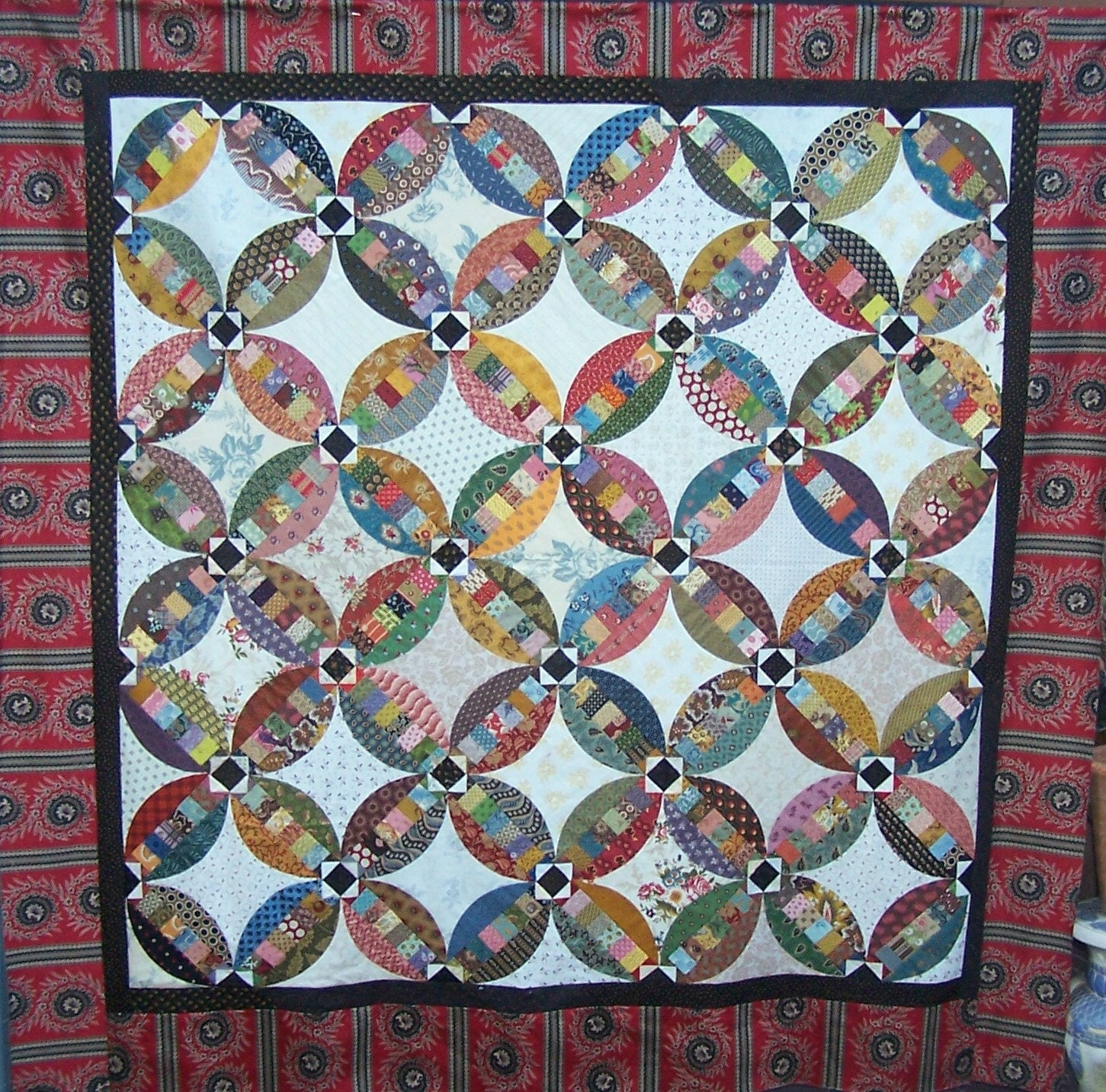 faux wedding ring quilt pattern by patchworkfun on etsy