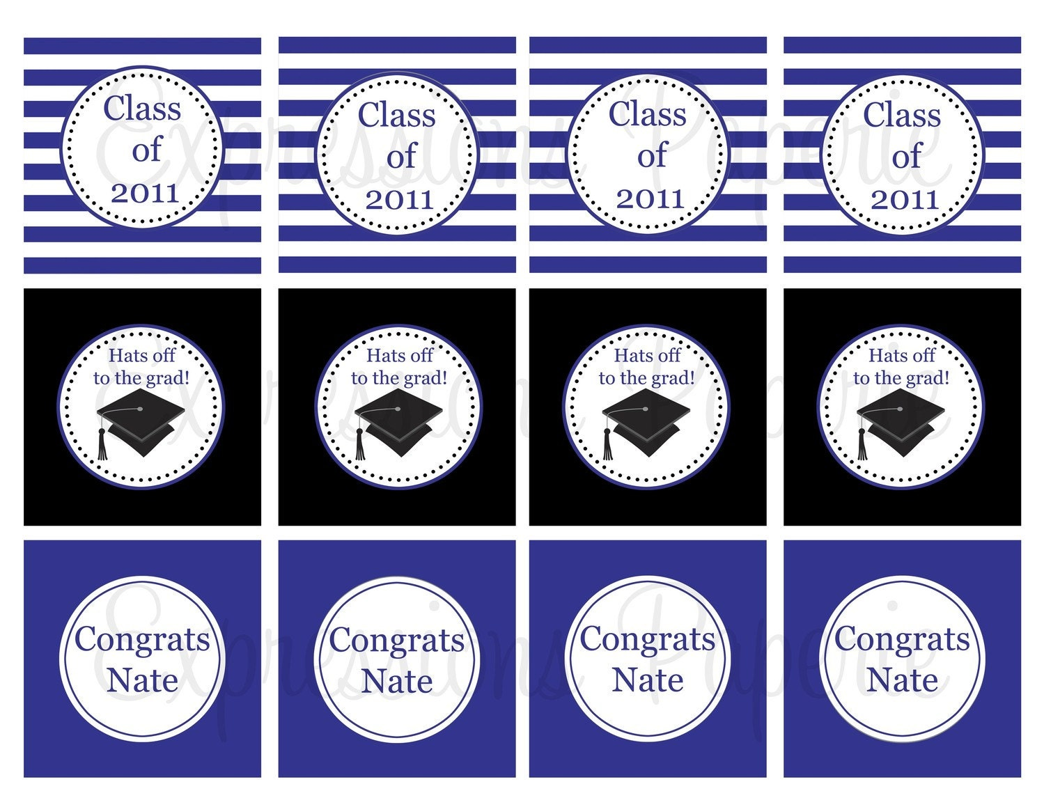 Graduation Cupcake Toppers Free Printables 2014 | Party Invitations ...