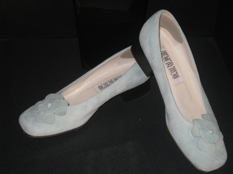 vintage shoes saks fifth avenue mint green suede by shopolga