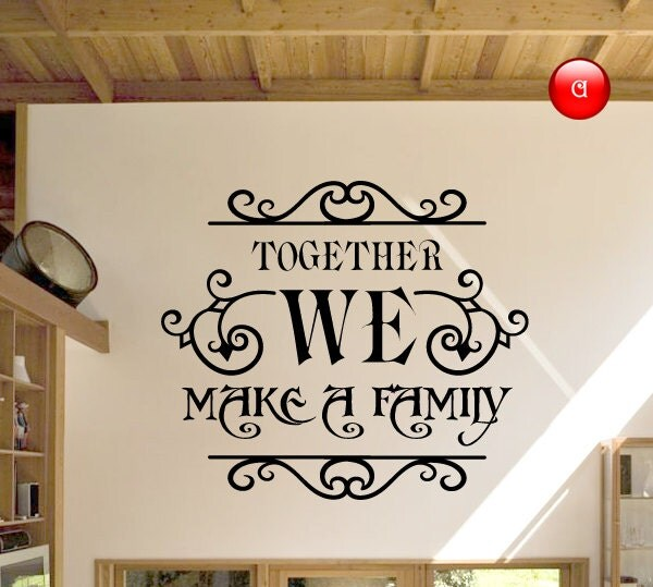 Wall Murals, Family Wall Decals Quotes, Wall Quote Stickers, Wall Words