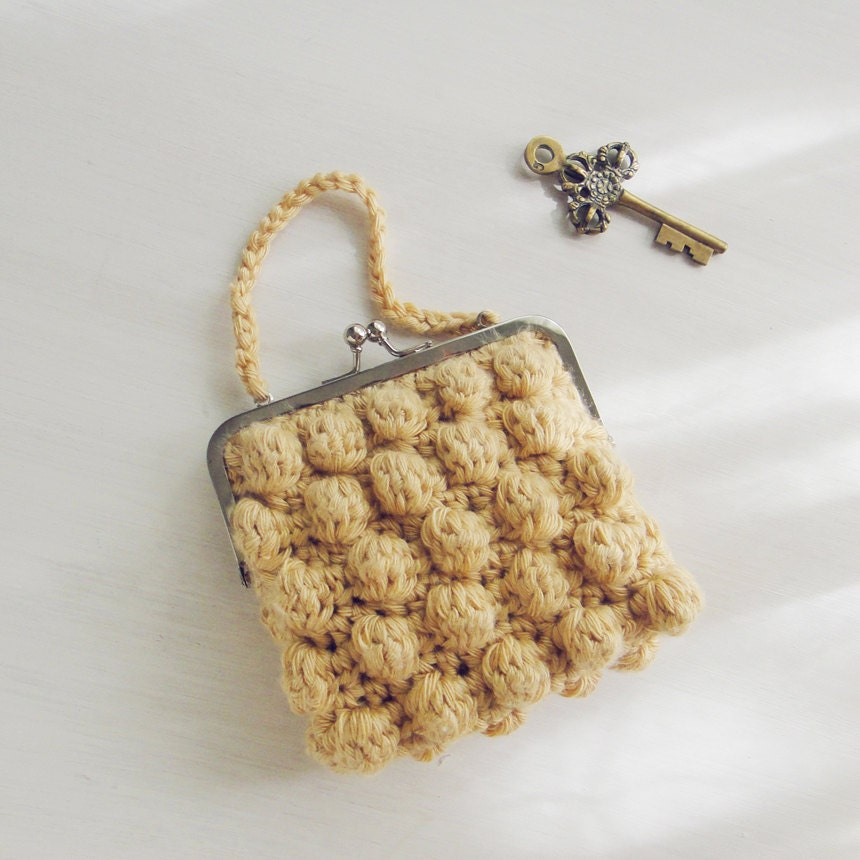 Simple Crochet Coin Purse : ... any purse frame size - boho bag, coin, pouch, purse crochet pattern