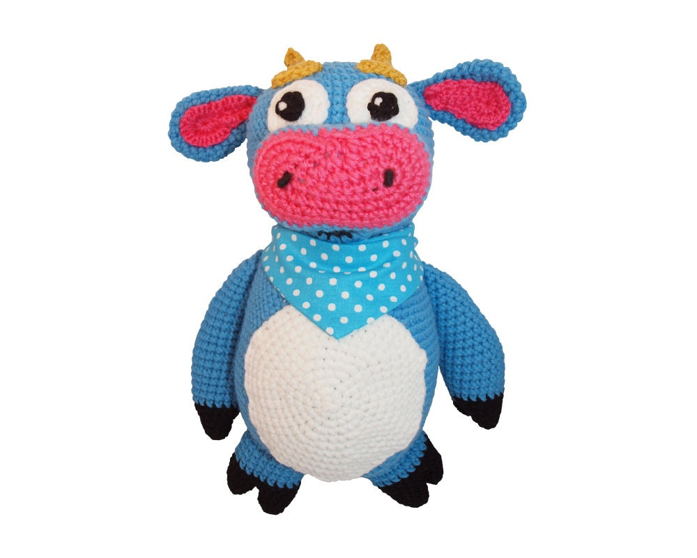 Knitting Pattern For Dora The Explorer Doll : Benny the Bull from Dora the Explorer Crochet by HatsAllFolks