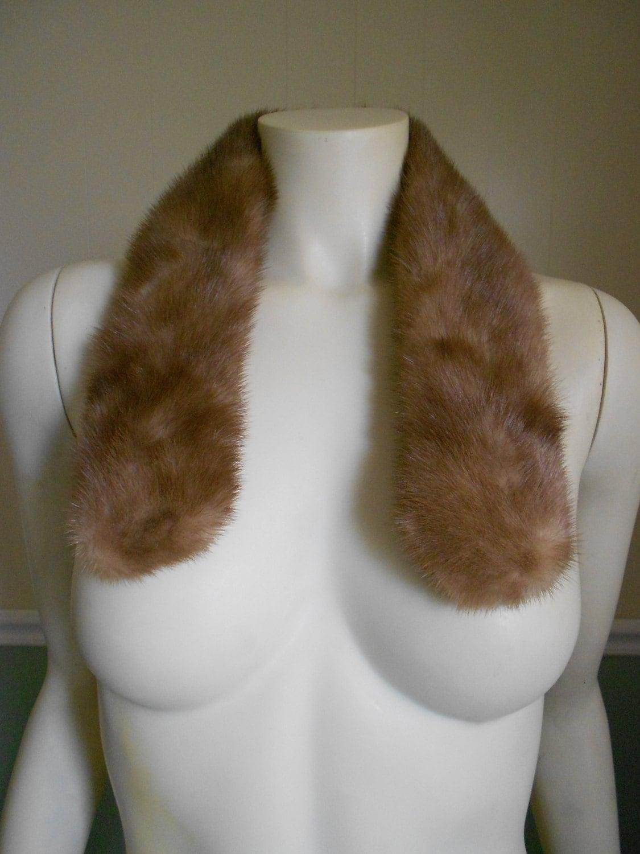 Vintage 1950s  Mink Fur Collar / Mink Scarf - Tootiescloset