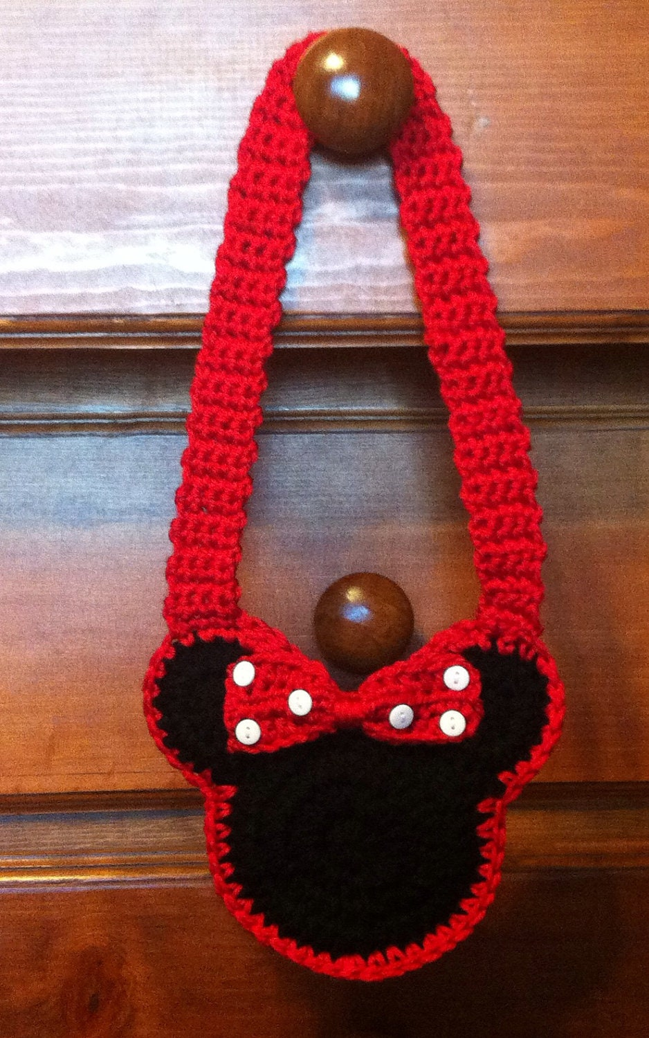 Items similar to minnie mouse child s crochet purse on etsy