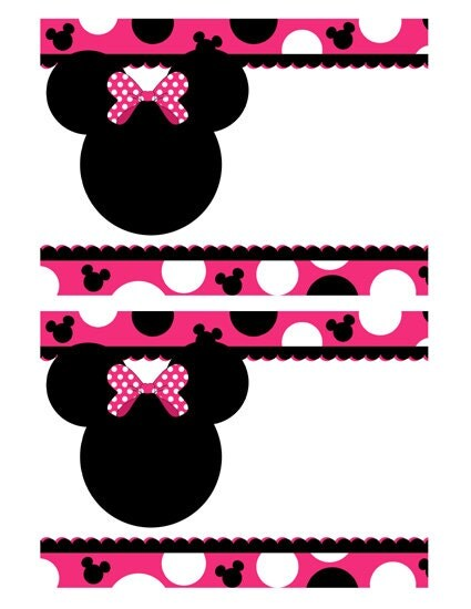 INSTANT DOWNLOAD Minnie Mouse Blank Invitations by AdeleGraphics