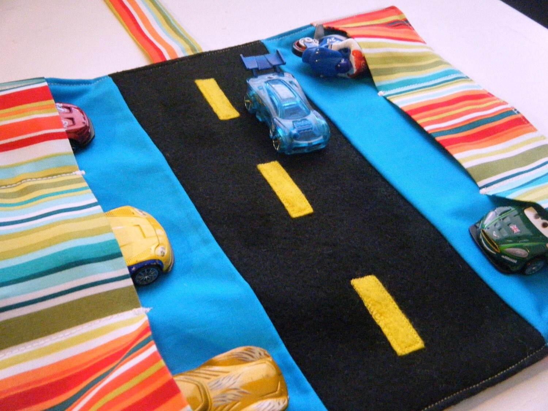 Car Caddy - Cabana Stripes  - Ready to ship
