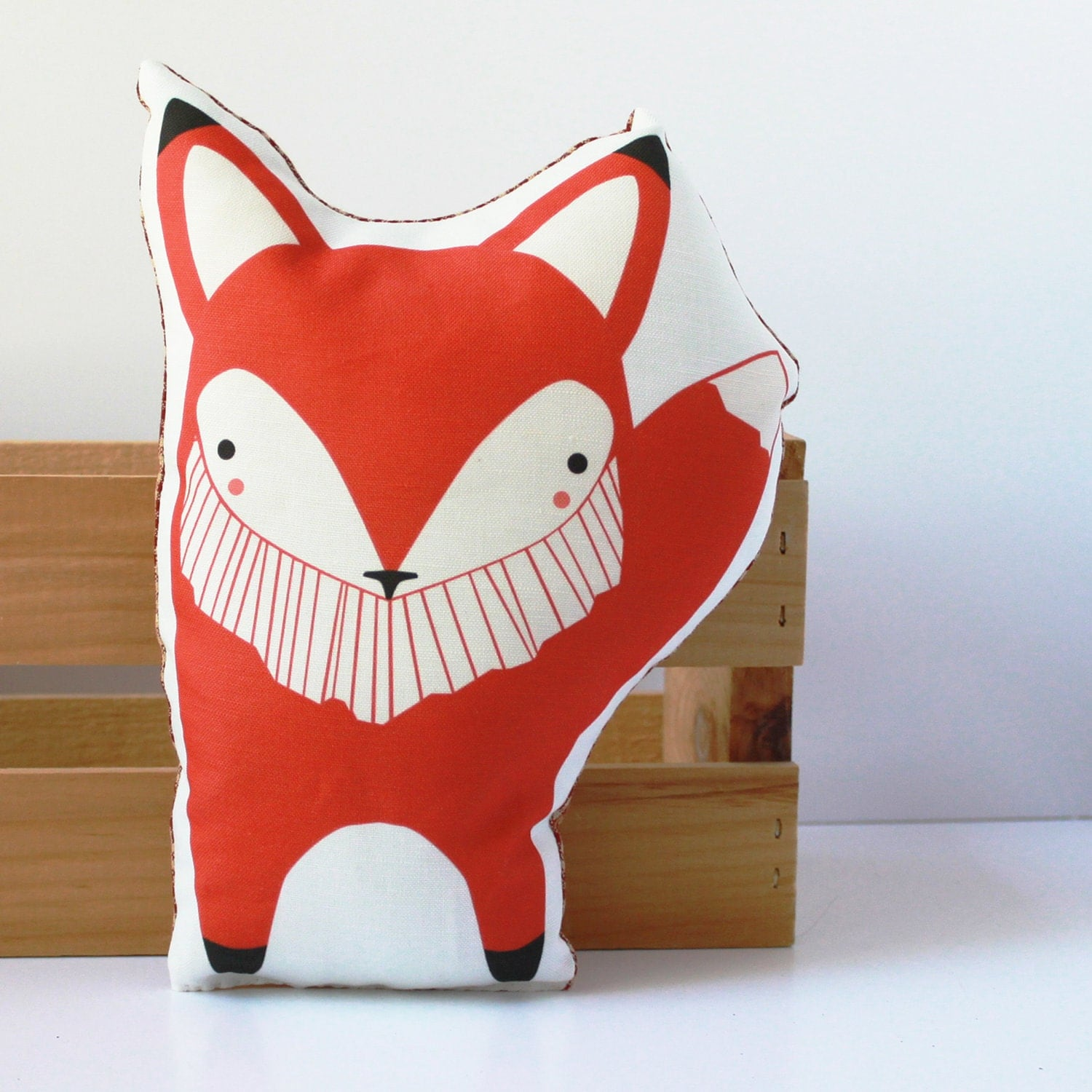 Plush Fox Pillow in Orange MADE TO ORDER