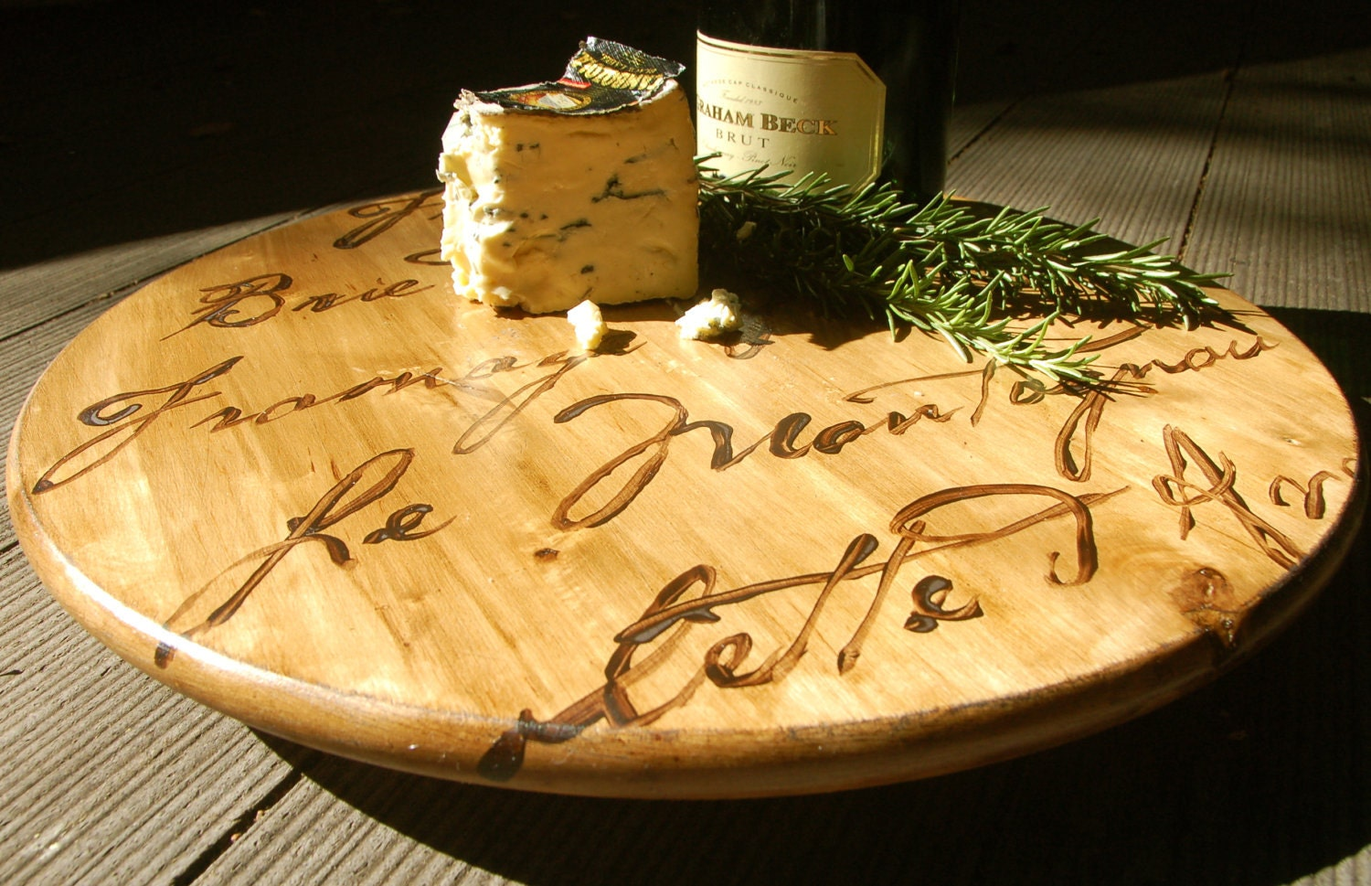 FRENCH CHEESE BOARD - lazy susan - CECILIAROSSLEE