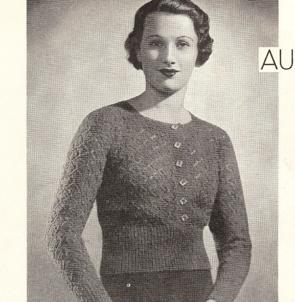 1930s Knitting Patterns : 1930s vintage knitting pattern elegant lace by VintageVisageonEtsy