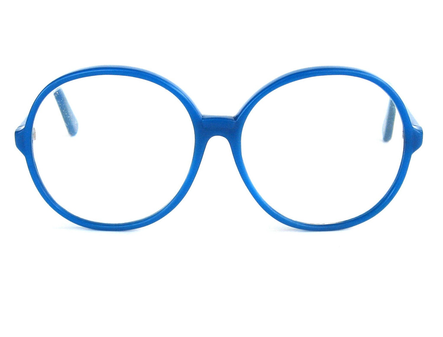 Bright Blue Glasses Frames : Vintage Oversized Bright Blue 1980s Glasses by ...