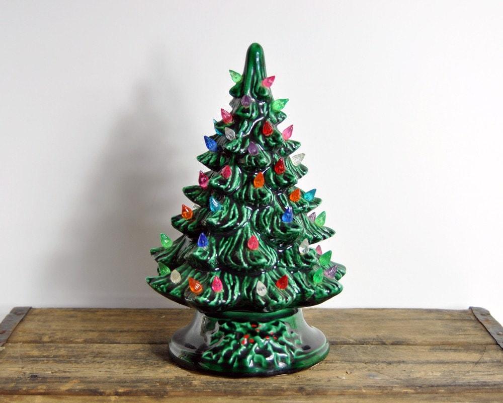Vintage Porcelain Christmas Tree