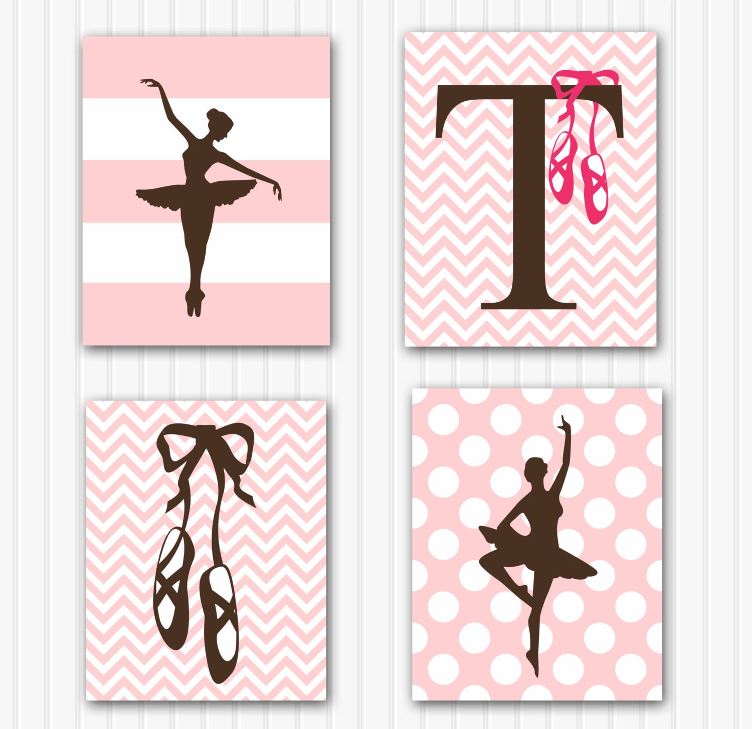 Baby girl nursery art personalized ballerina by for Ballerina decoration