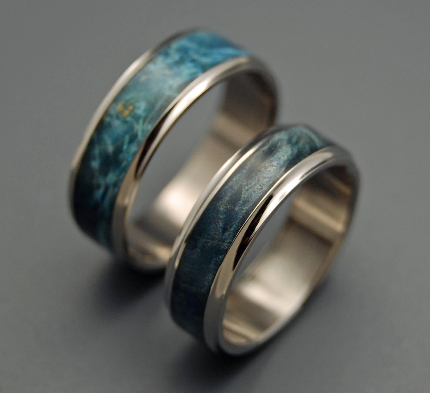 caspian wooden wedding rings by minterandrichterdes on etsy