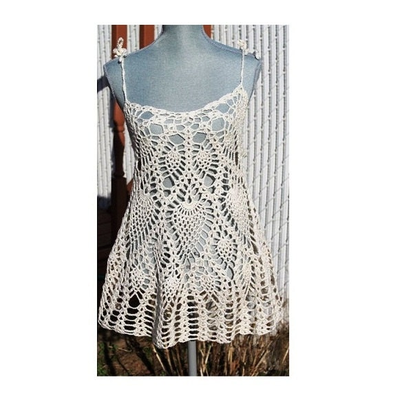 Free Pattern Crochet Cover Up : Items similar to Crochet Layer Dress or Bathing suit Cover ...