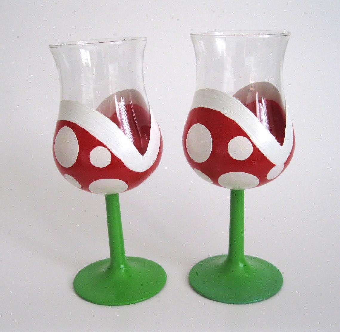 ... Plant Wine ... Hand Painted Wine Glasses Diy