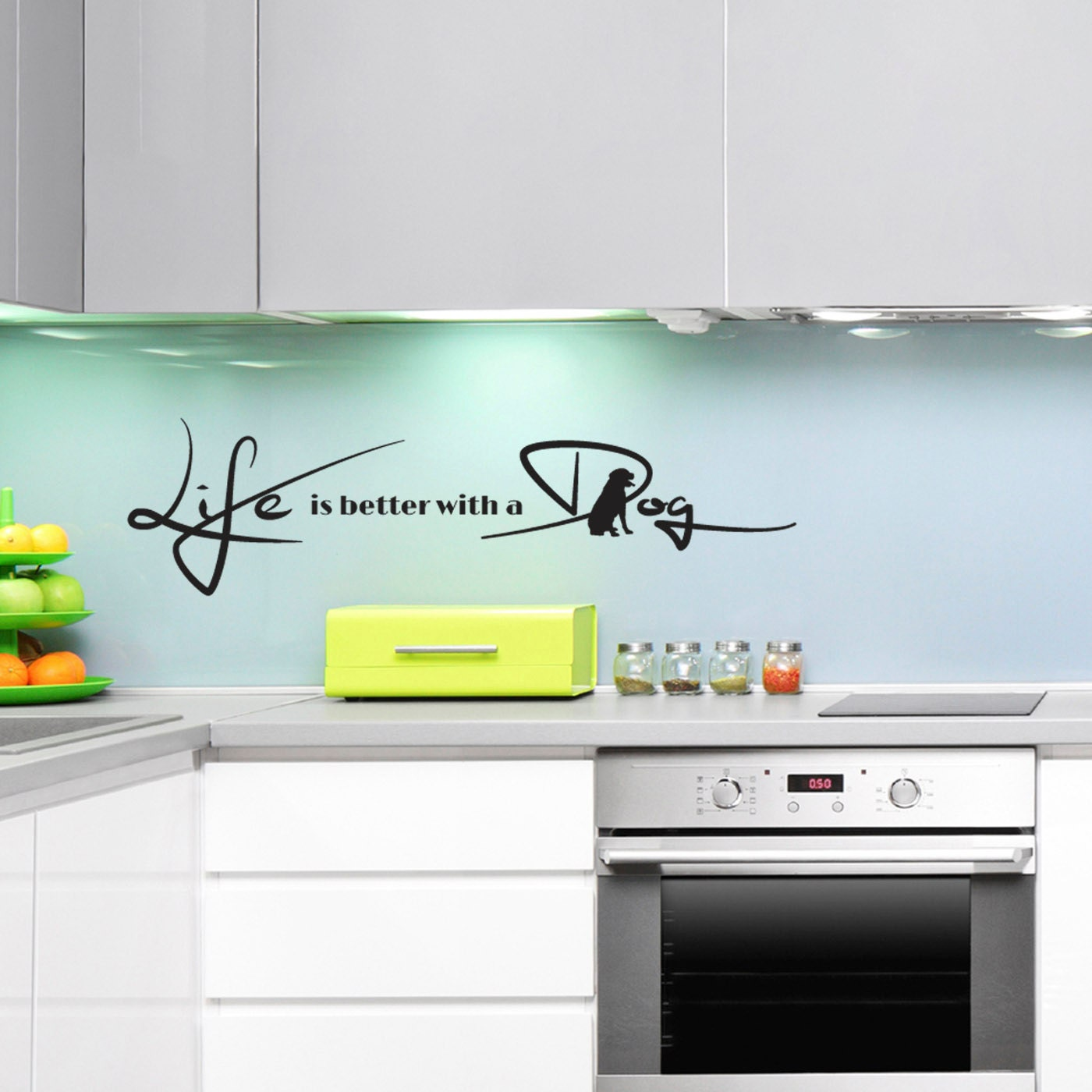 Life Is Better With A Dog Wall Sticker Animal Quote Wall Sticker