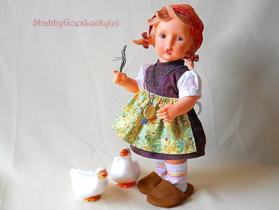 Hummel Goebel Vinyl Doll 1970s Goose Girl By Shabbygoeslucky
