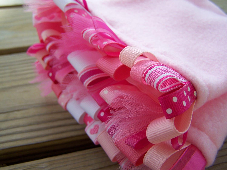 Fleece Longies Diaper Cover ribbon cuff - TurkandBean
