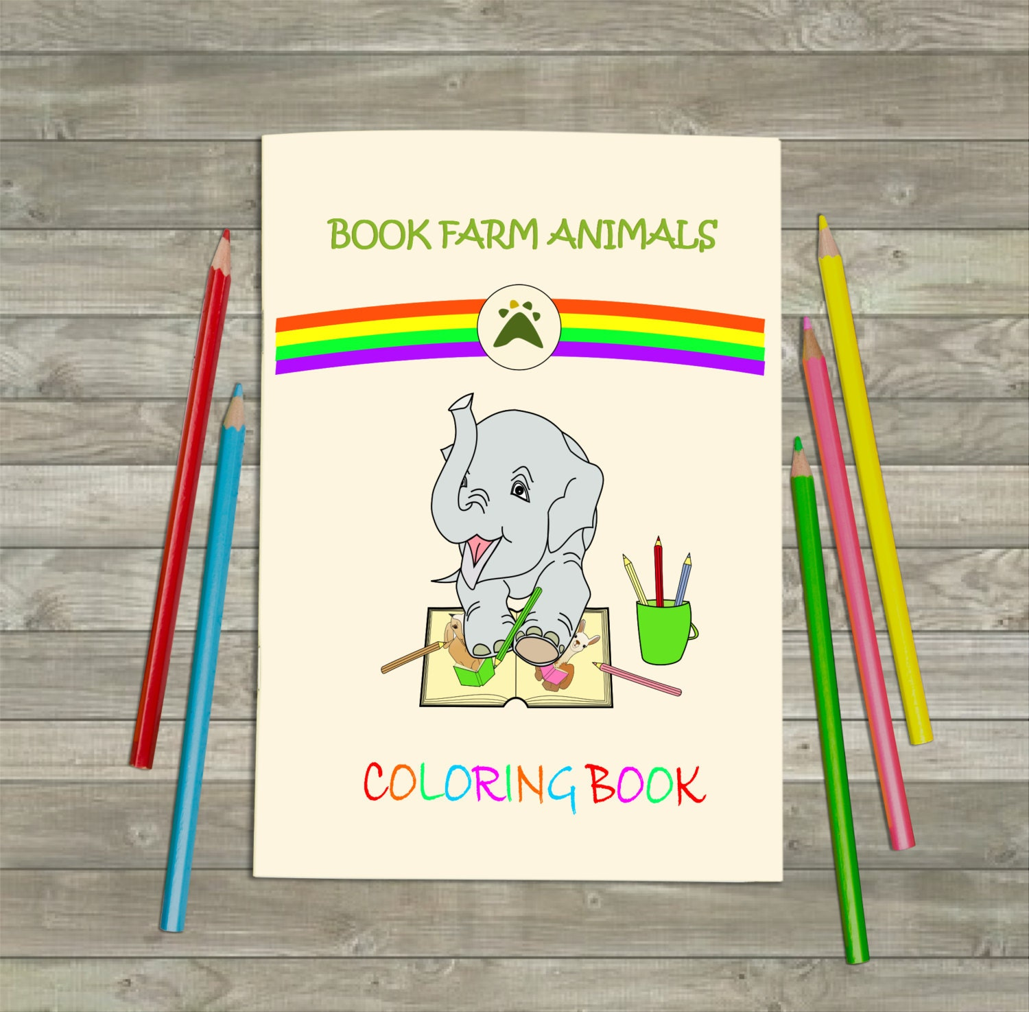 Book Farm Animals Colouring Book Kids Coloring Kids Activity Colouring In Children Coloring Wedding Kids Coloring Book Travel Kids