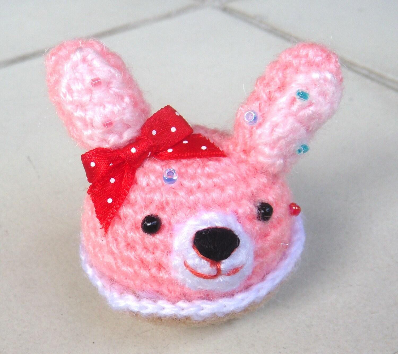 Kawaii Amigurumi Cupcake Keychain : Items similar to RAEWADOLLY Amigurumi Kawaii Cupcake Bunny ...