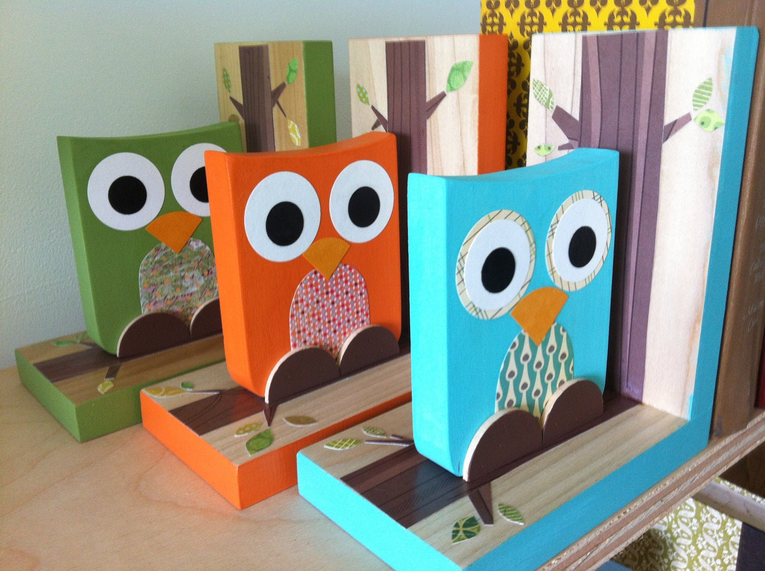 Set Owl Bookends - eco-friendly by Maple Shade Kids