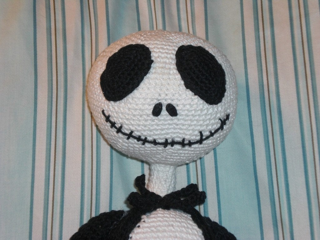 Free Crochet Pattern Of Jack Skellington : Jack Skellington Crochet PATTERN por lakfletcher en Etsy
