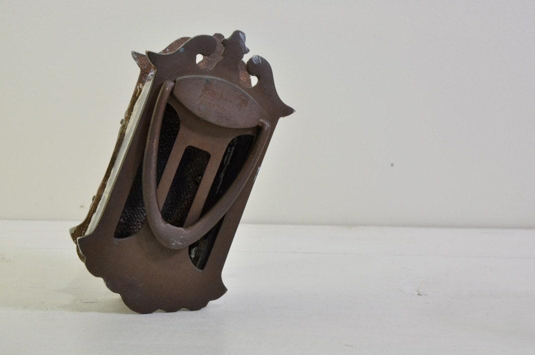 Vintage brass peep hole door knocker by usemeagainvintage on etsy - Door knocker with peep hole ...