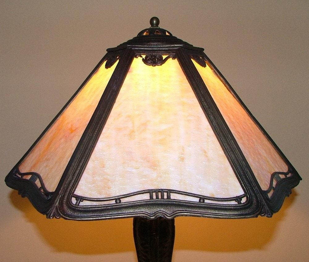 reserved antique slag stained glass lamp light by annslights. Black Bedroom Furniture Sets. Home Design Ideas