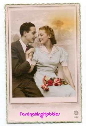 LOVERS - Elegant COUPLE - years 1950 - french Photo POSTCARD