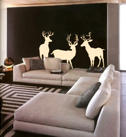 items similar to wall decal three deer wildlife outdoors