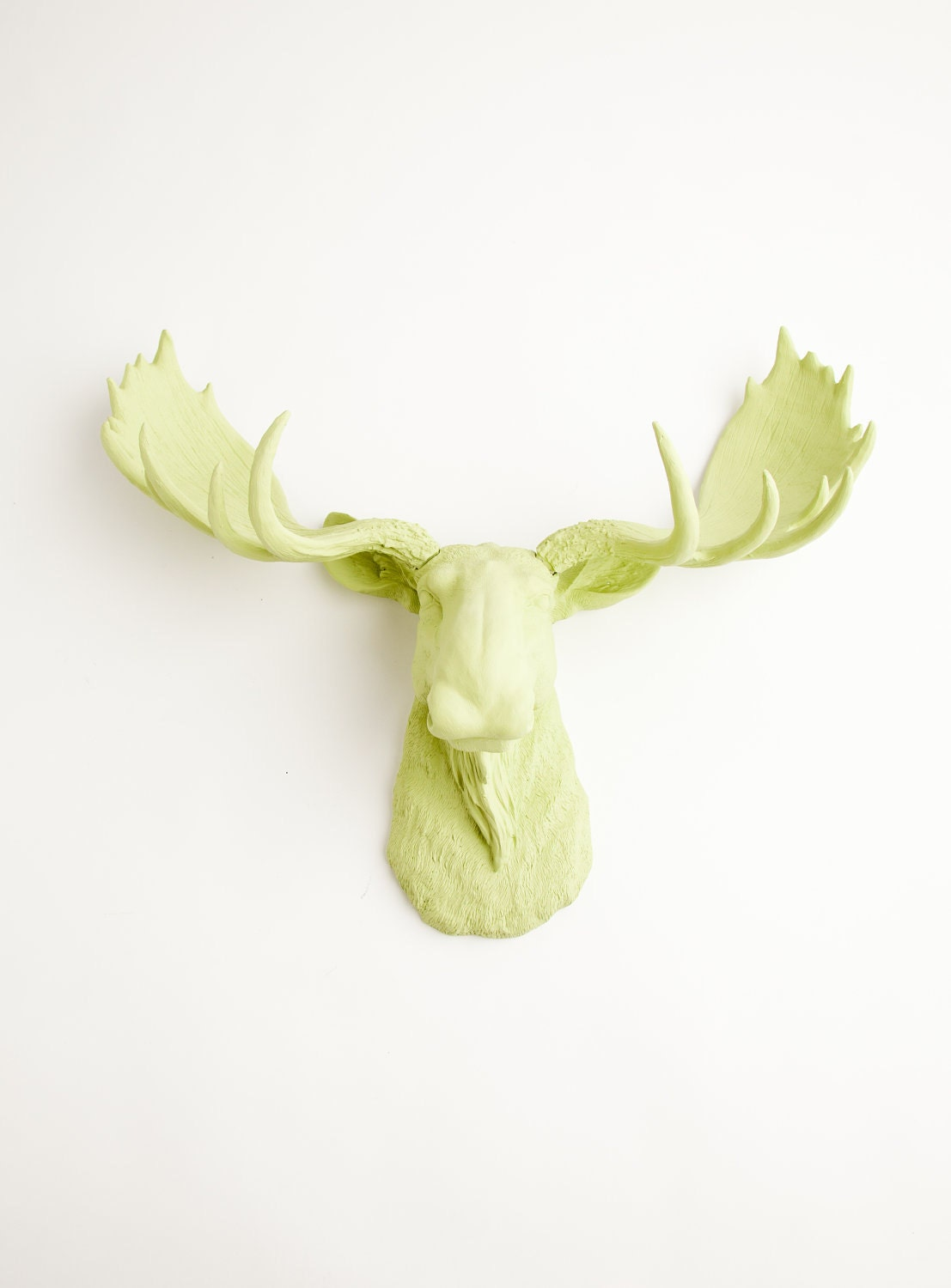 Faux taxidermied moose head the nico mint by whitefauxtaxidermy - Fake moose head ...