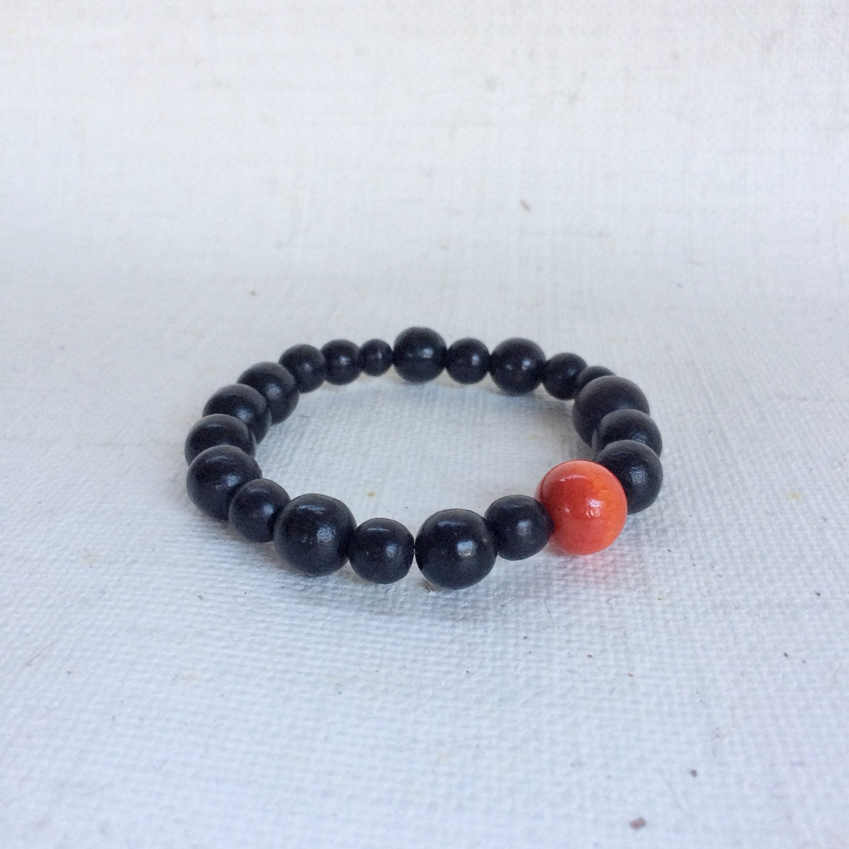 SALE Black bead bracelet  black bracelet  mens bracelet  black bracelet  stretch bracelet  handmade bracelet  mens beaded bracelet