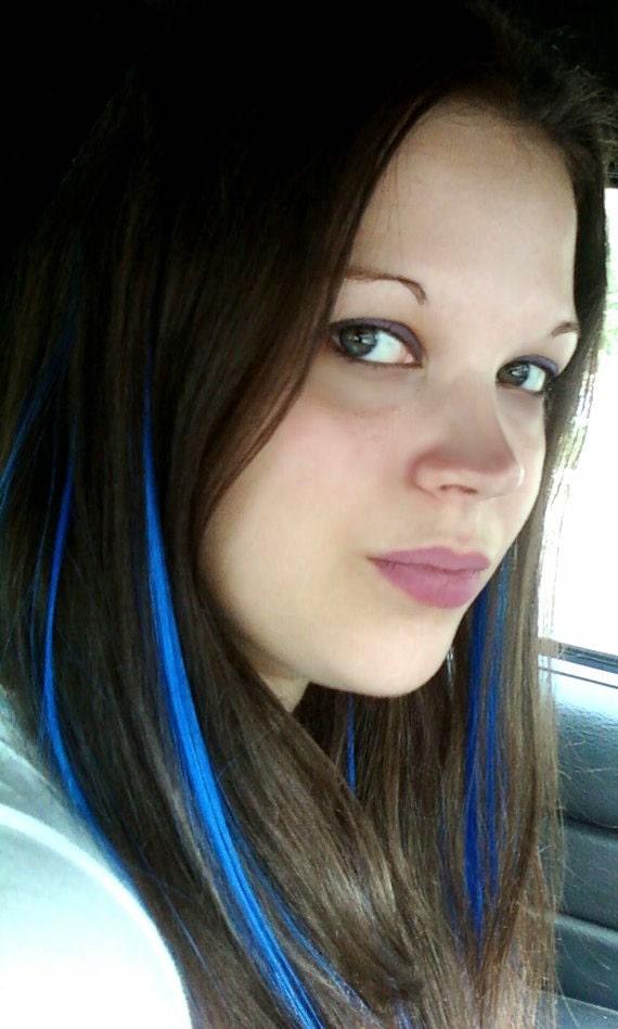 Hair Extensions Deep Royal Blue 12 Inch By Abluerosescreation