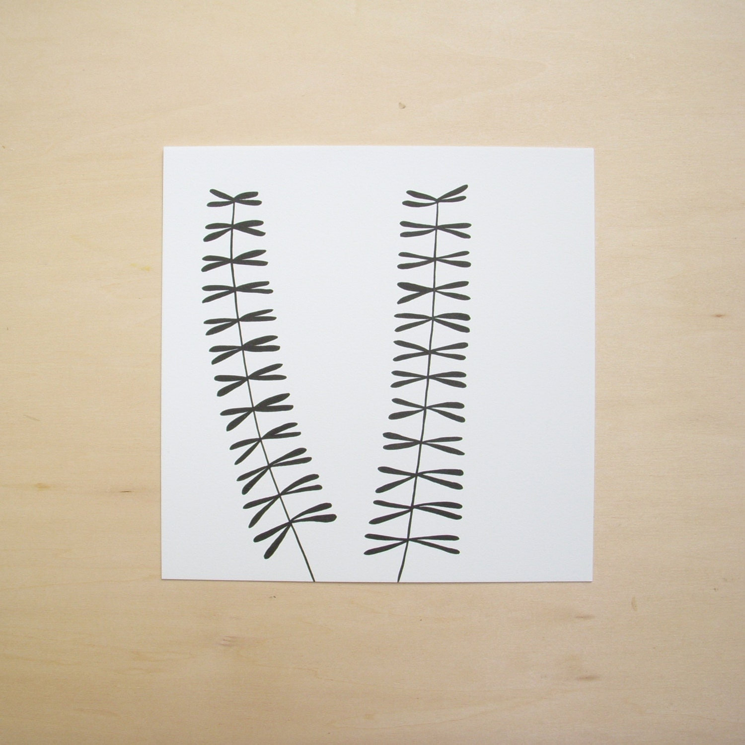 Modern Minimal Plant Drawing in Black and White - mustkeepmaking