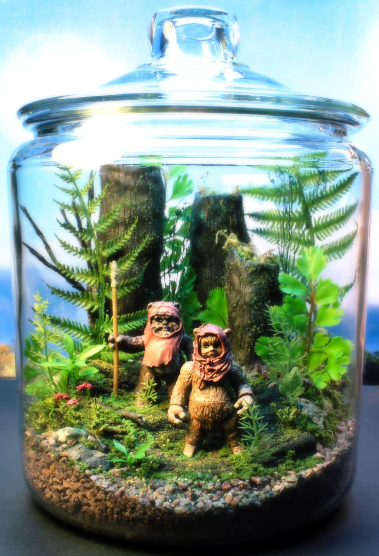 Ewok Duo - Endor Forest Terrarium - Star Wars - Return of the Jedi